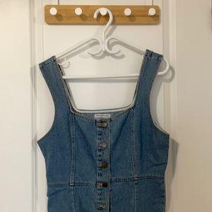Urban Outfitters Cute Denim Button Up Dress